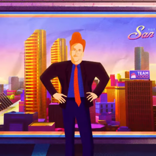 Conan pays homage to Into the Spiderverse with his cold open