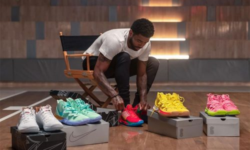 NBA's Kyrie Irving shows off SpongeBob SquarePants collaboration