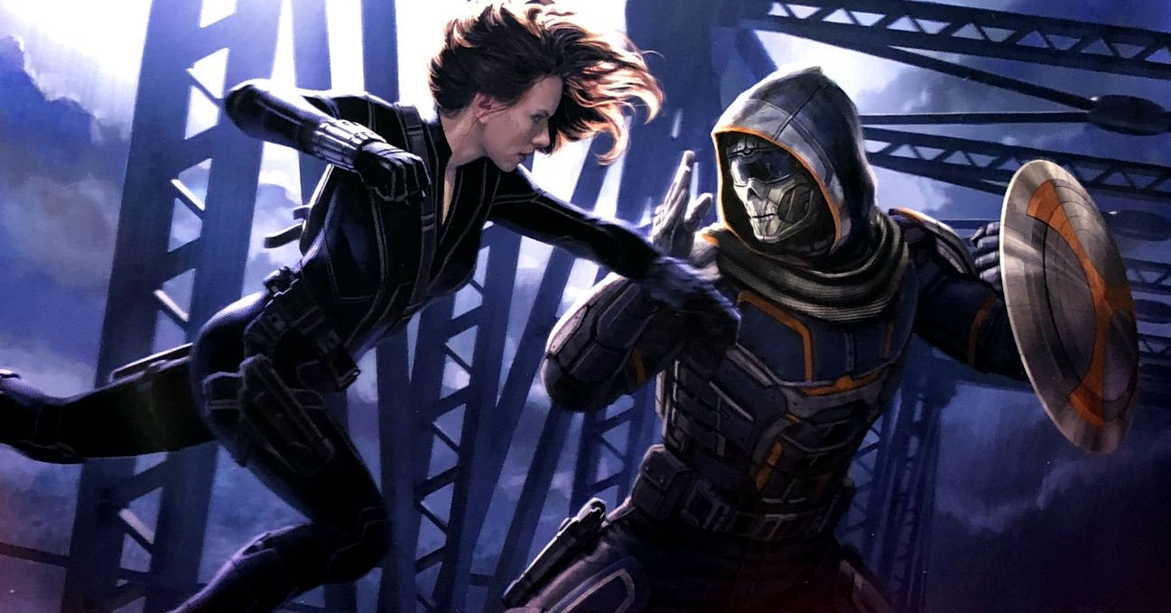 Black Widow vs. Taskmaster concept art