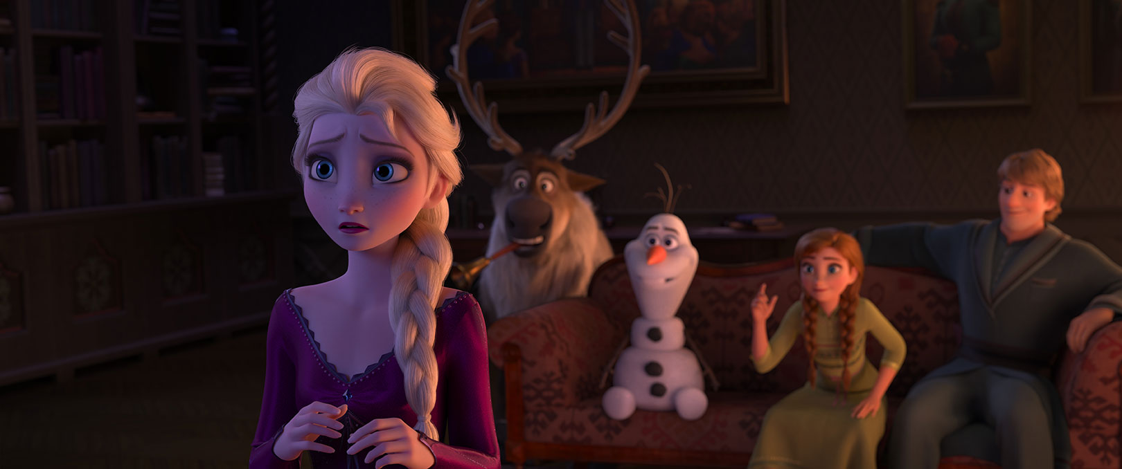 Frozen II - Elsa, Sven, Olaf, Anna, and Kristoff