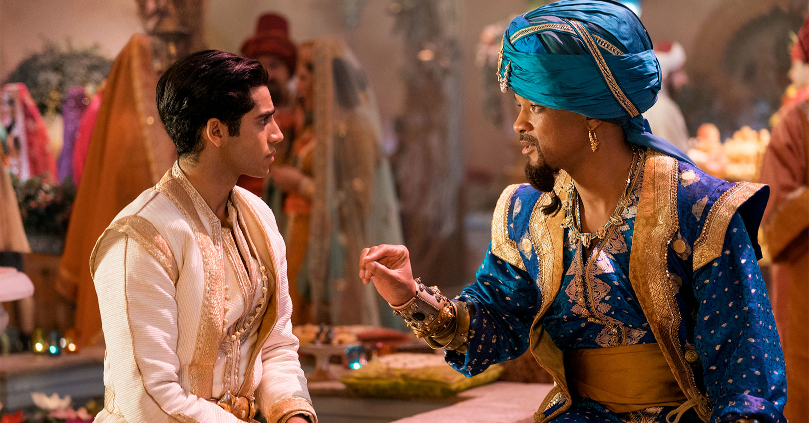 Aladdin (2019) - Mena Massoud and Will Smith