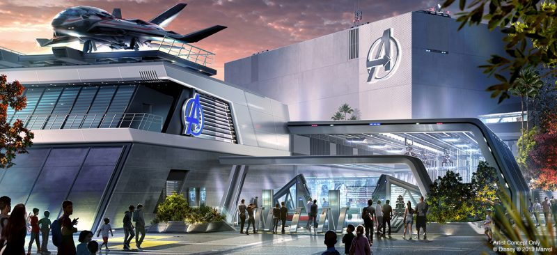 Avengers Campus - Avengers ride Quinjet Experience