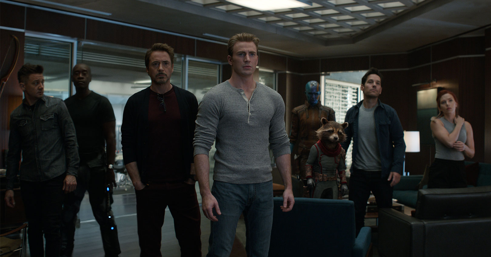 Avengers: Endgame - Jeremy Renner, Don Cheadle, Robert Downey Jr., Chris Evans, Karen GIllan, Bradley Cooper, Paul Rudd, and Scarlett Johansson