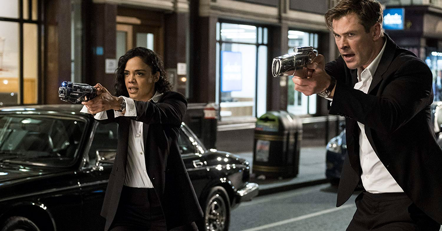 Men in Black: International - Tessa Thompson and Chris Hemsworth