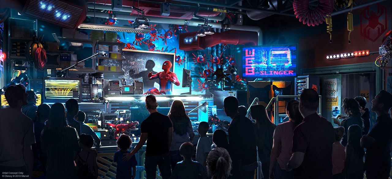 Avengers Campus - Spider-Man experience queue line