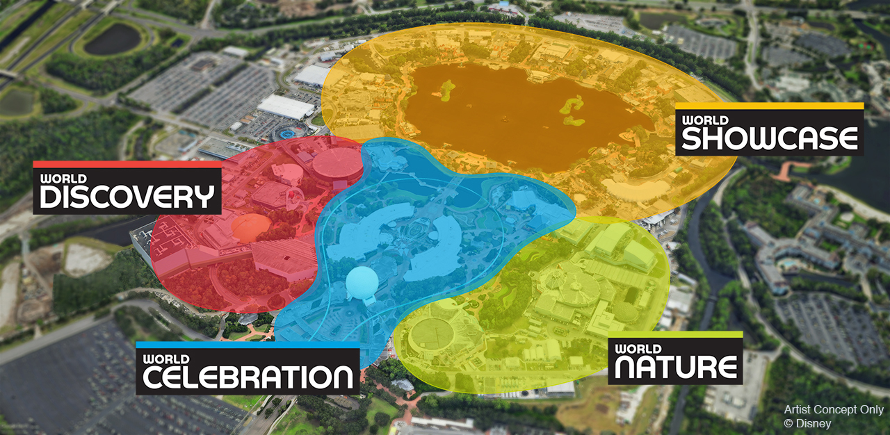 Newly renamed Epcot areas