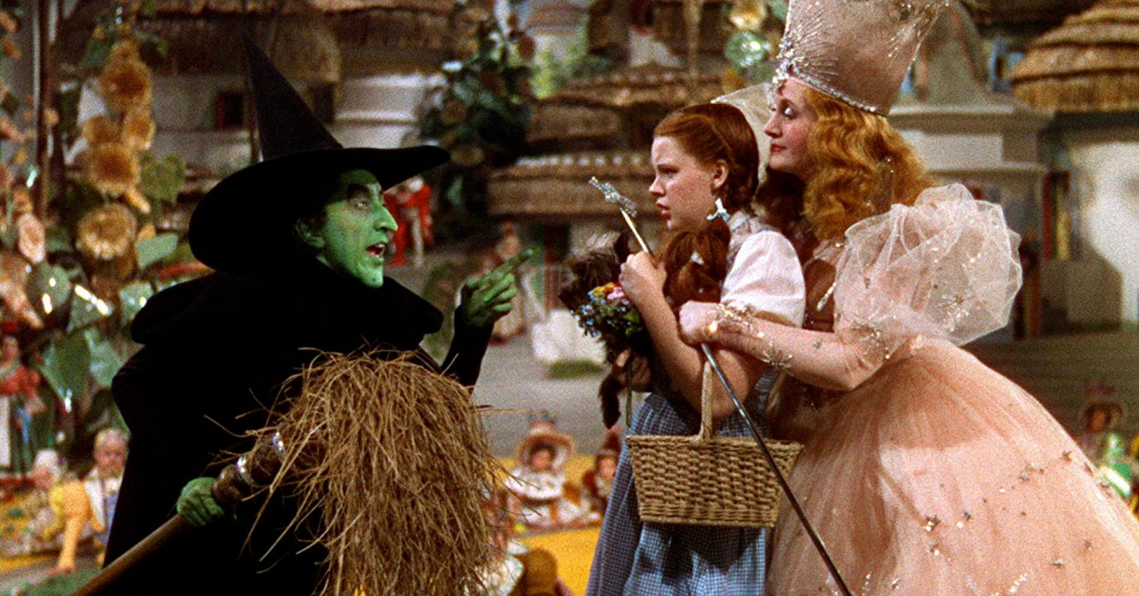 The Wizard of Oz - Margaret Hamilton, Judy Garland, and Billie Burke