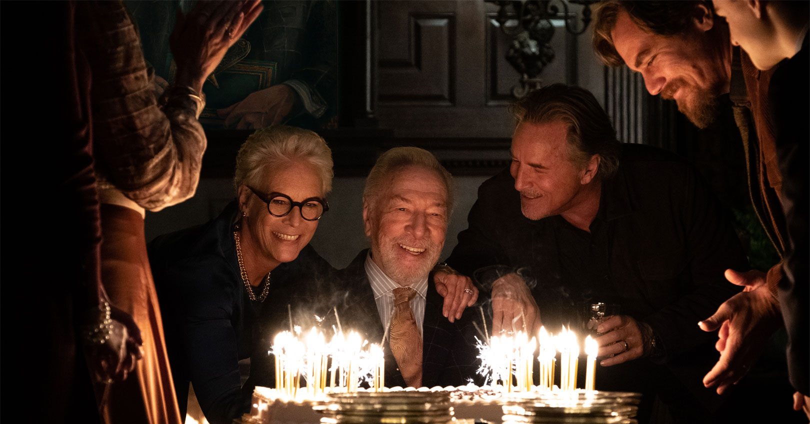 Knives Out - Jamie Lee Curtis, Christopher Plummer, Don Johnson, and Michael Shannon