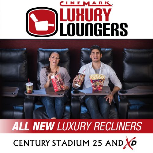 Experiencing Century Stadium 25 and XD in Orange's new luxury recliners and tray tables