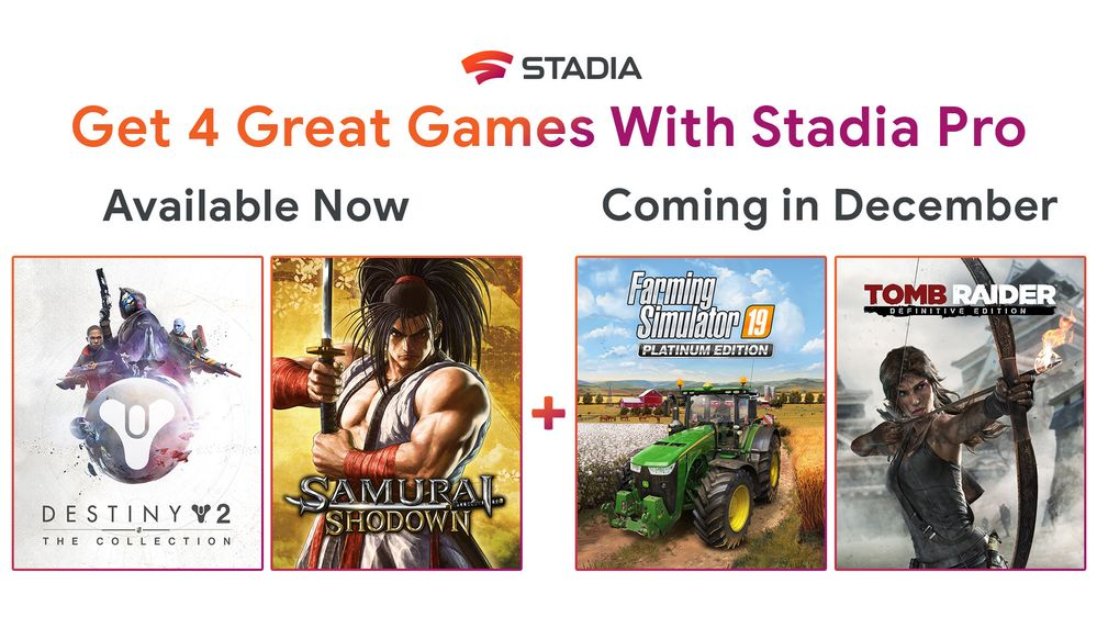 Stadia Pro December Games Body