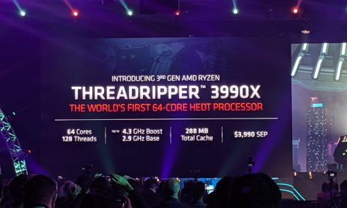 AMD leads the world again with world's fastest processor, the 64-core 3990X, at CES 2020
