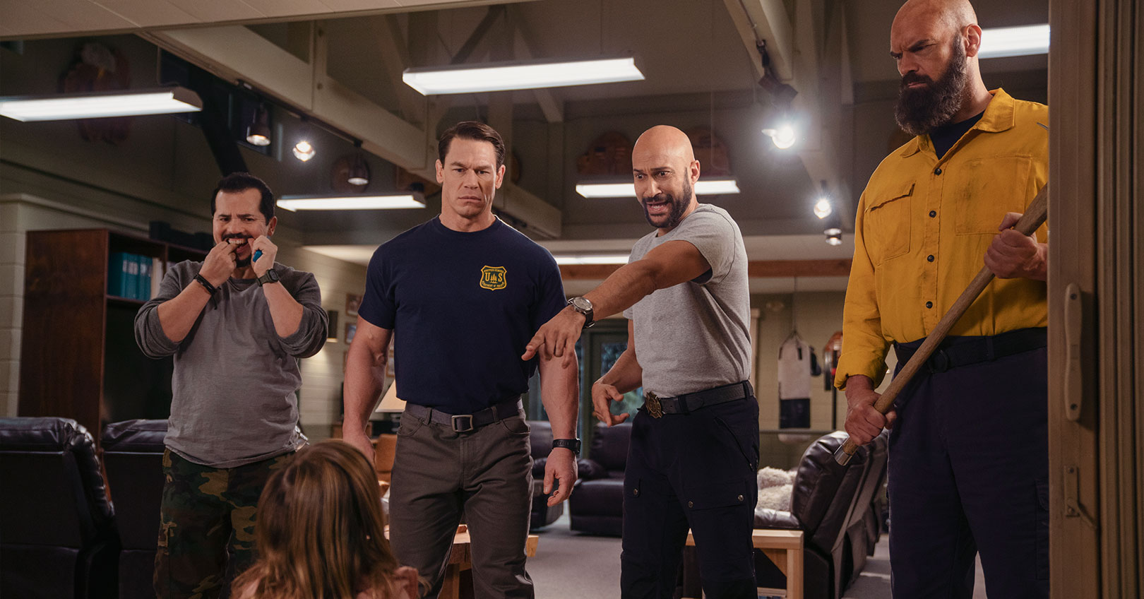 Playing with Fire - John Leguizamo, Finley Rose Slater, John Cena, Keegan-Michael Key, and Tyler Mane