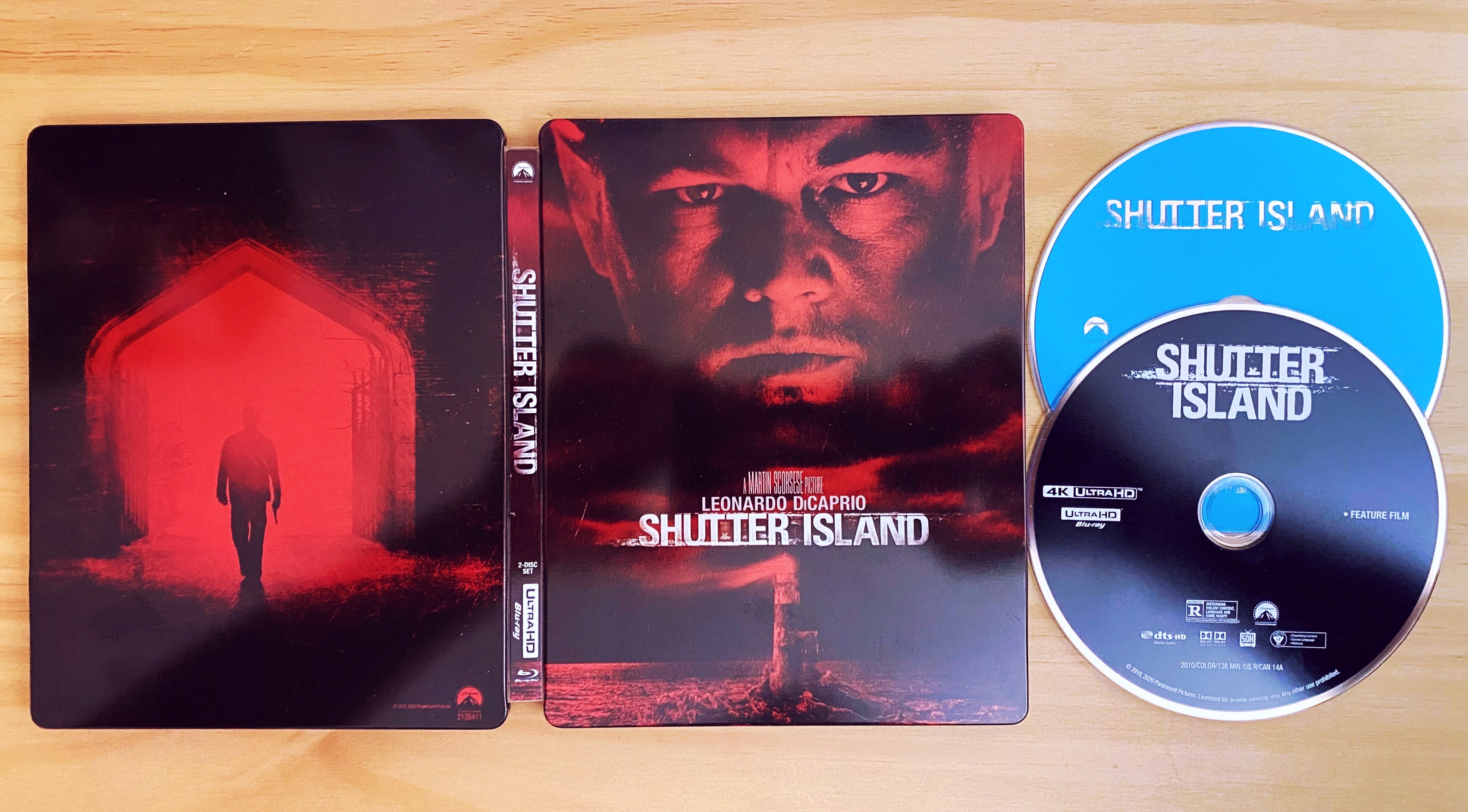 Shutter Island Steelbook - Cover and Discs