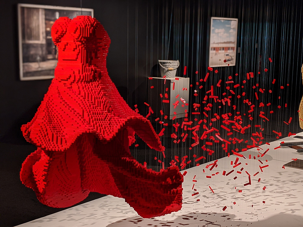 The Art of the Brick Red Dress - Photo by Nerd Reactor