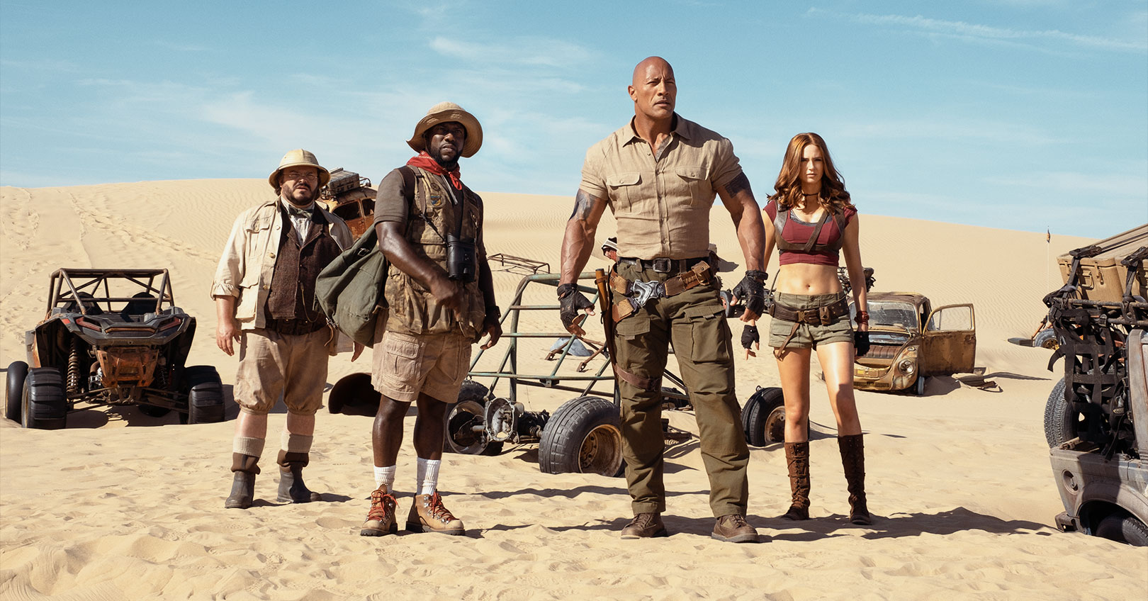 Jumanji: The Next Level - Jack Black, Kevin Hart, Dwayne Johnson, and Karen Gillan