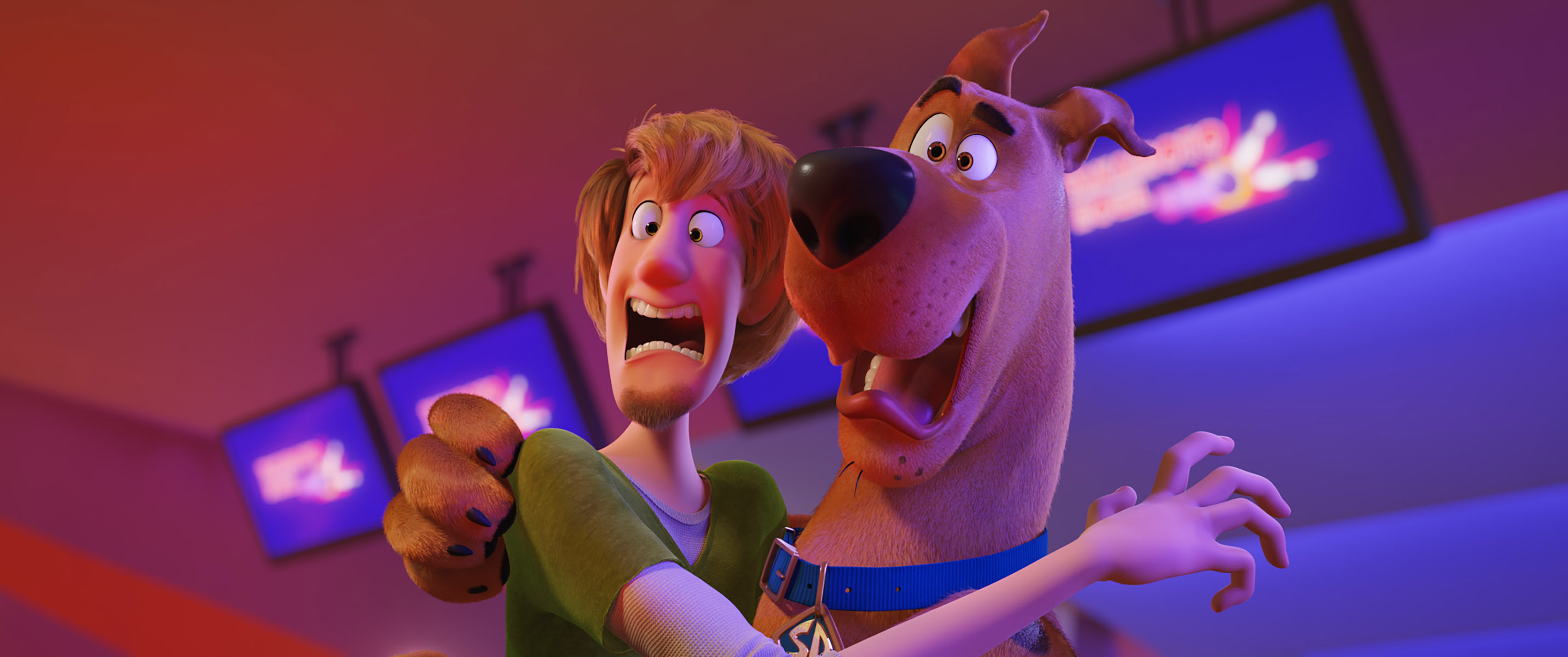 "(L-r) Shaggy voiced by WILL FORTE and Scooby-Doo voiced by FRANK WELKER in the new animated adventure ""SCOOB!"" from Warner Bros. Pictures and Warner Animation Group. Courtesy of Warner Bros. Pictures"
