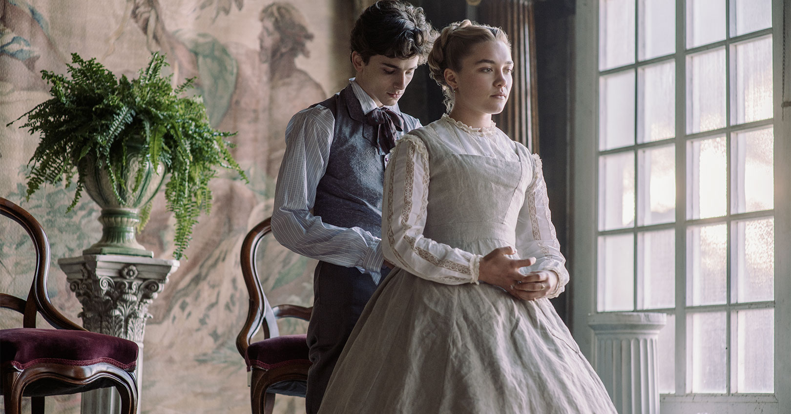Little Women - Timothee Chalamet and Florence Pugh