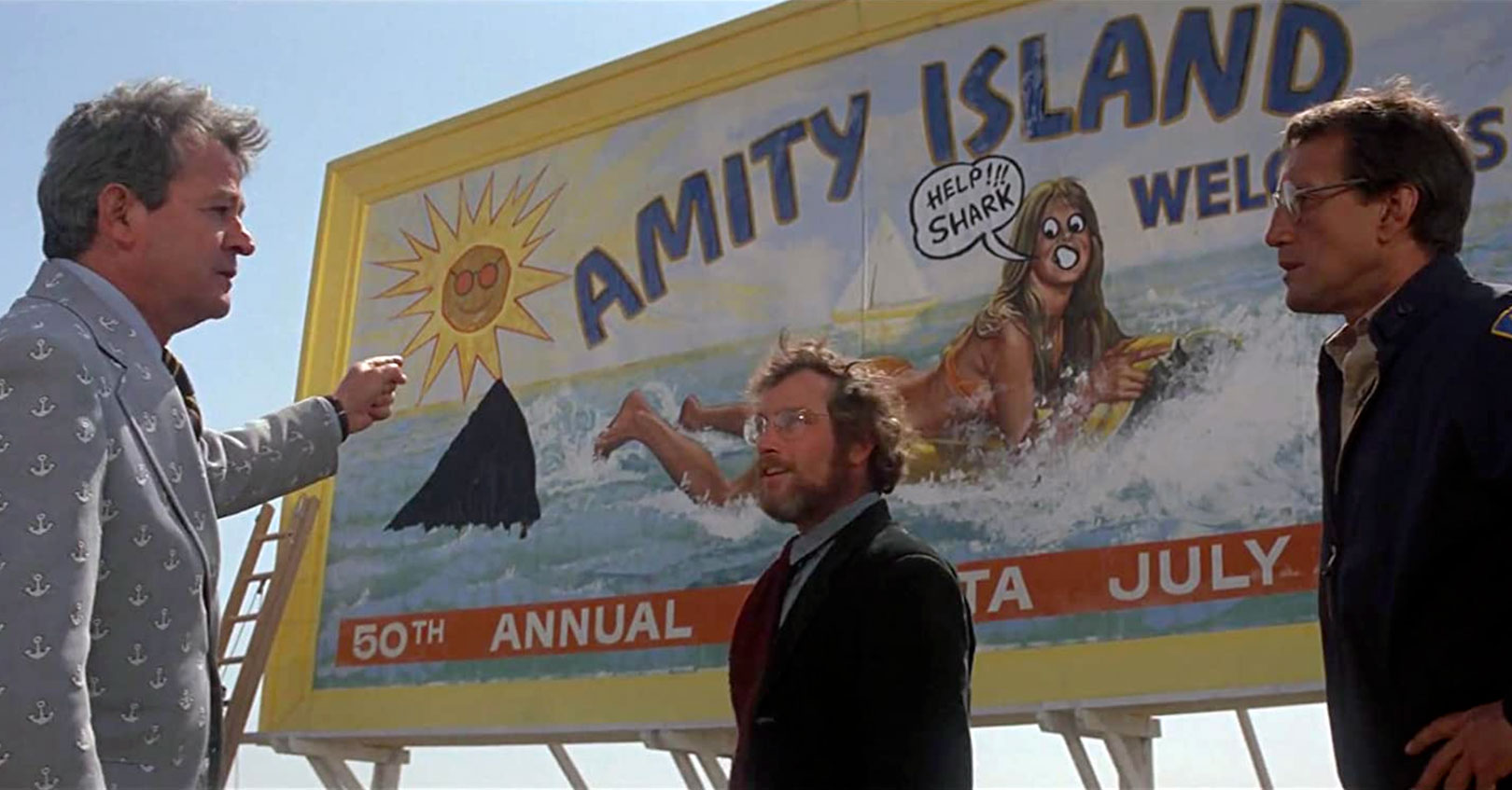 Jaws - Murray Hamilton, Richard Dreyfuss, and Roy Scheider