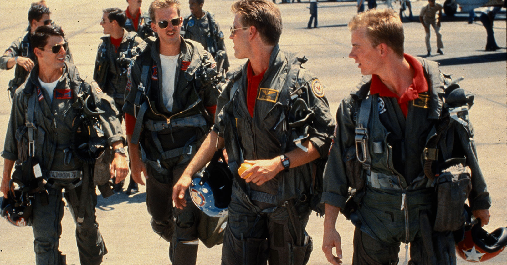 Top Gun - Tom Cruise, Anthony Edwards, Val Kilmer, and Rick Rossovich