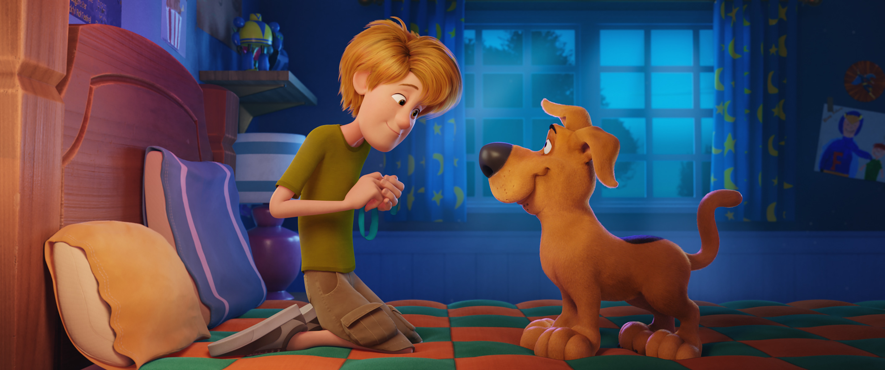 Scoob! Image of Young Shaggy, voiced by Iain Armitage