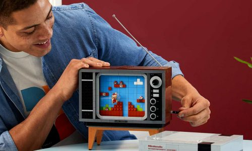 The LEGO NES comes with crank to emulate Super Mario level