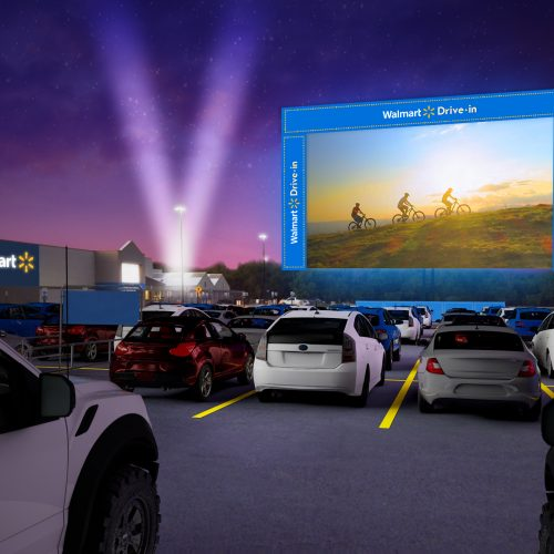 Walmart will be setting up drive-in theaters on its parking lots