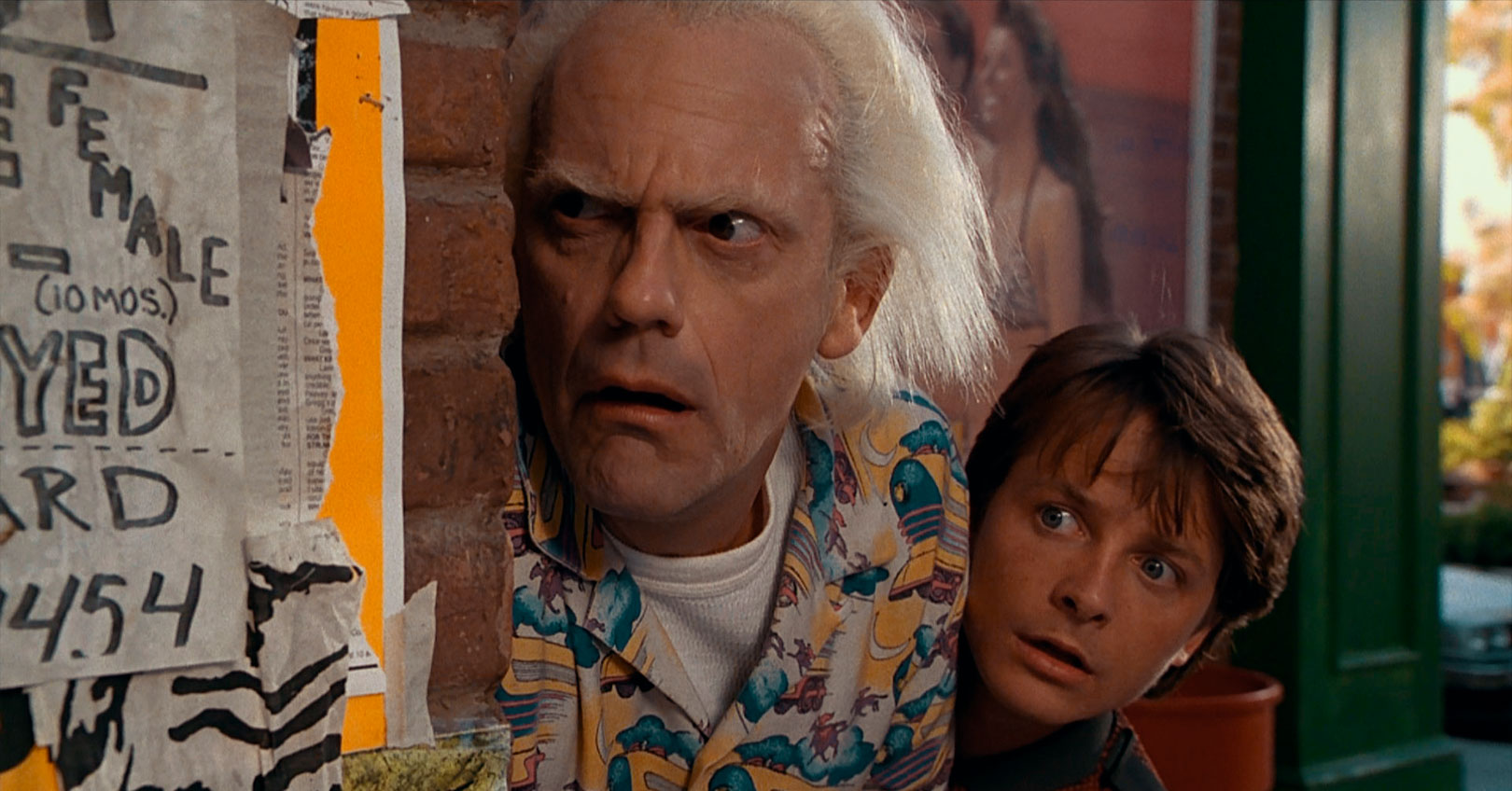 Back to the Future Part II - Christopher Lloyd and Michael J. Fox