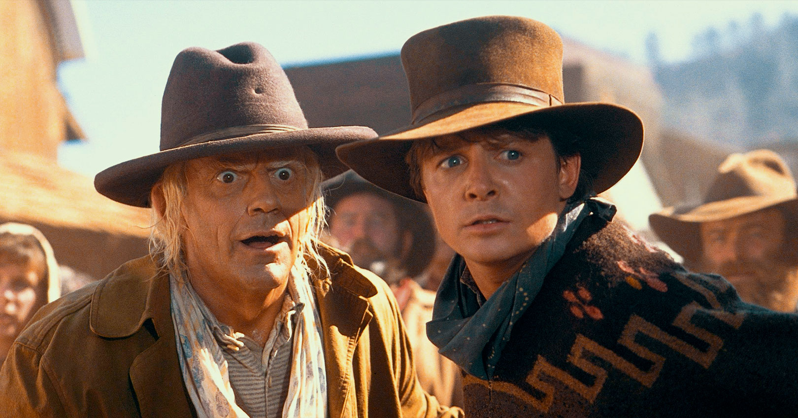 Back to the Future Part III - Christopher Lloyd and Michael J. Fox