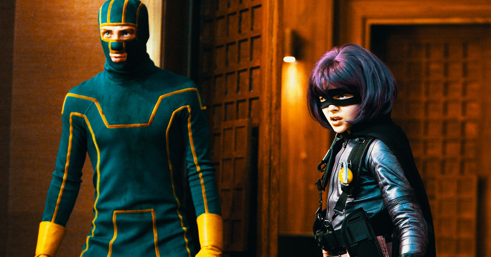 Kick-Ass - Aaron Taylor-Johnson and Chloë Grace Moretz