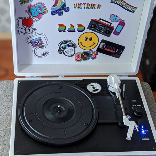 Get creative with Victrola Canvas Record Player Portable Suitcase