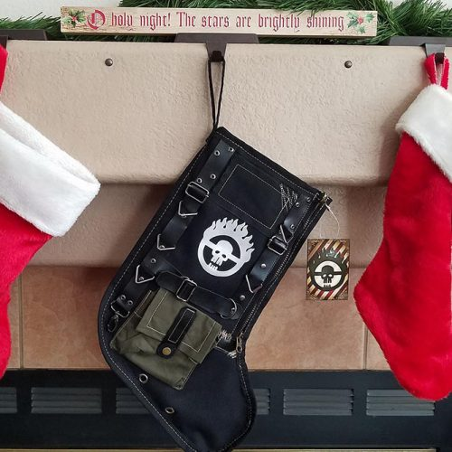 Make your Christmas shiny & chrome with the War Boy Christmas Stocking