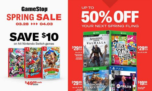 GameStop's 2021 Spring Sale: Immortals Fenyx Rising, Assassin's Creed Valhalla, Cyberpunk 2077, Star Wars Squadrons