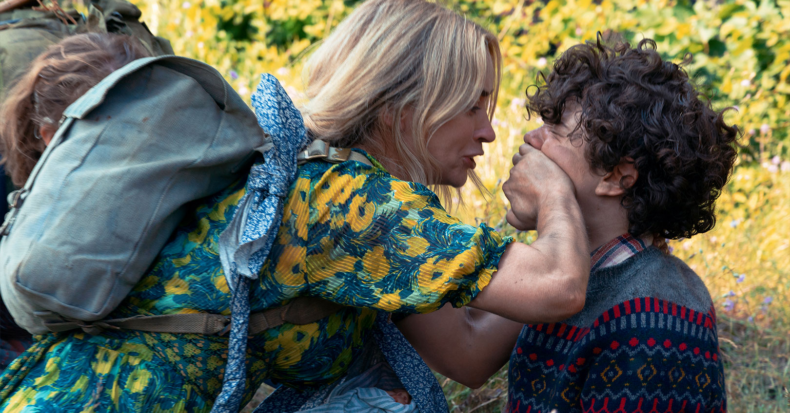 A Quiet Place Part II - Emily Blunt and Noah Jupe
